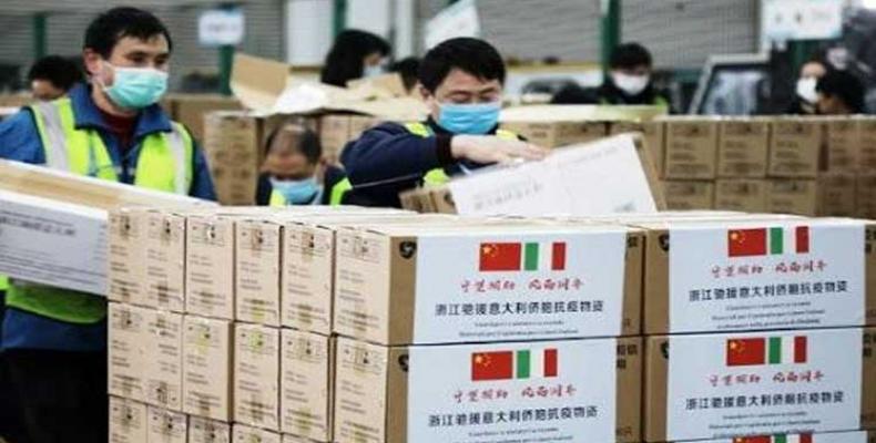 Un tercer grupo de 14 médicos y especialistas chinos arribará este miércoles a la ciudad italiana de Milán. Foto: PL.