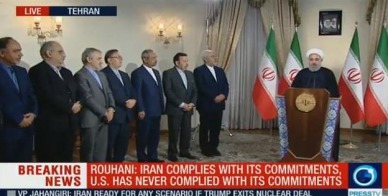 Iranian president addresses the nation.  Photo: Press TV