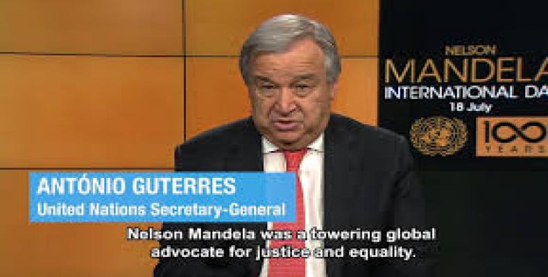 Mandela fue un ciudadano del mundo, asegura Guterres. Foto: Vimeo