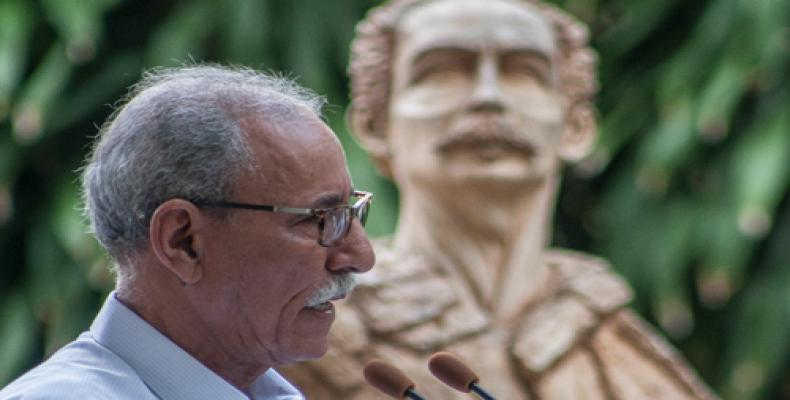 Ghali declaró que era un orgulloso estar en Cuba. Fotos: Archivo