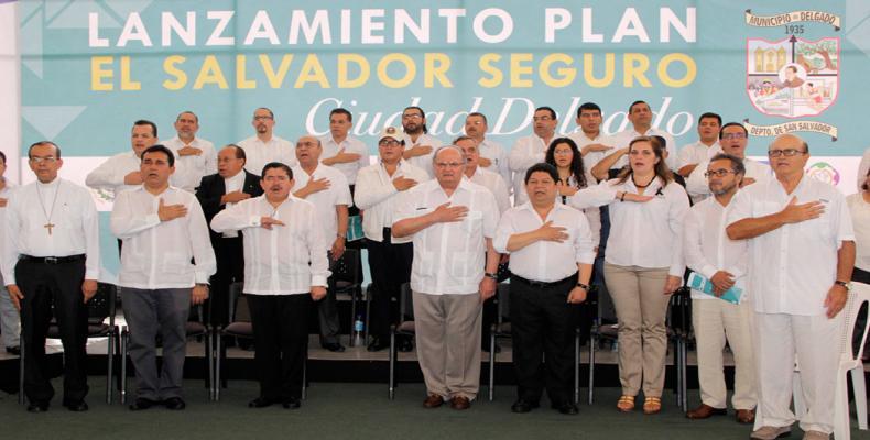 El Salvador Lanzamiento del Plan El Salvador Seguro-Ciudad (Fotos/ 2015 Presidencia)