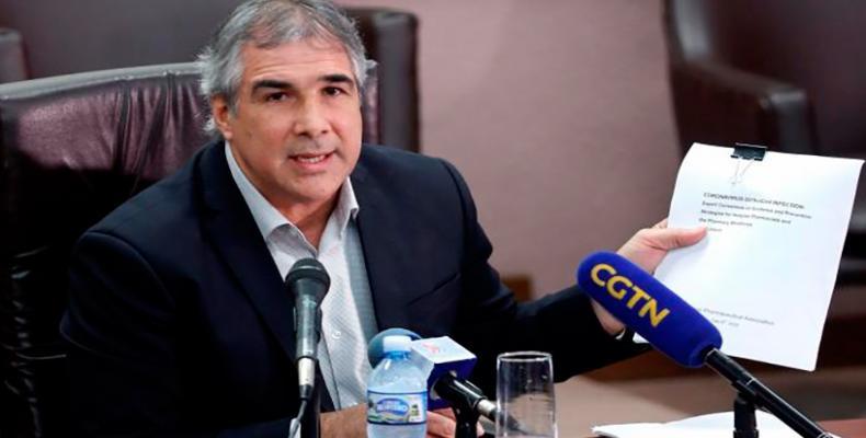 Eduardo Martinez, president of the state group BioCubaFarma. ACN Photo