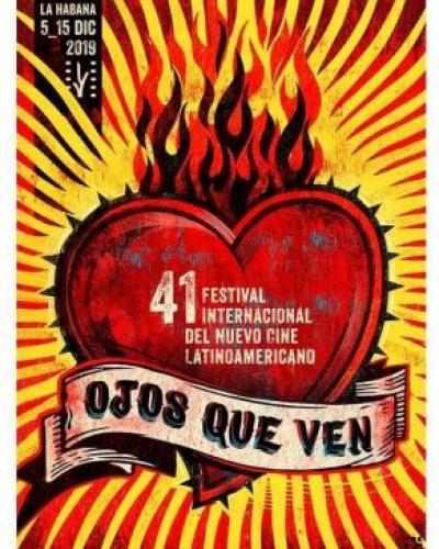 Cartel de la edición 41 del Festival Internacional del Nuevo Cine Latinoamericano.Imágen:Trabajadores.