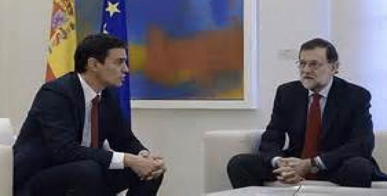 Sánchez y Rajoy en anterior reunión.  Foto Archivo