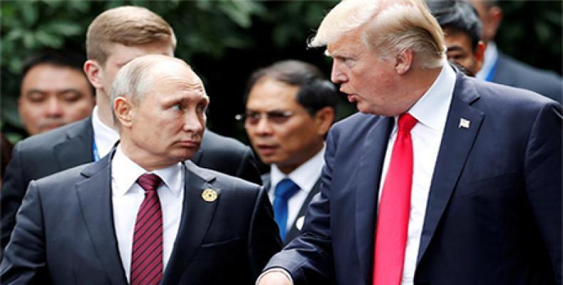 Presidentes de Rusia, Vladímir Putin, y de Estados Unidos, Donald Trump