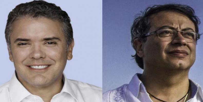 Ivan Duque and Gustavo Petro