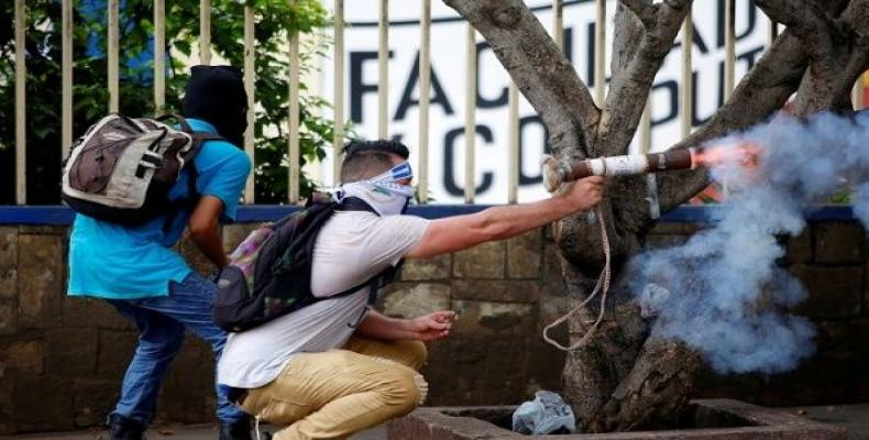 Violence in Nicaragua is supported by U.S. and right-wing forces.  Photo: AFP