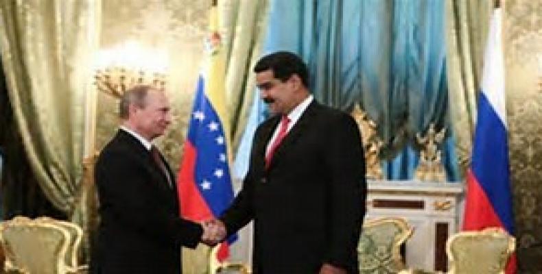 Presidente de Rusia, Vladimir Putin y el de Venezuela, Nicolás Maduro