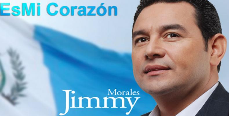 Presidente de Guatemala, Jimmy Morales,