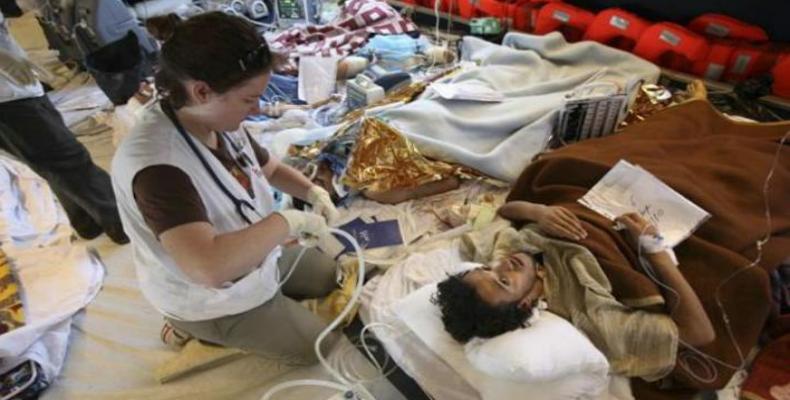 Hospital en la Franja de Gaza