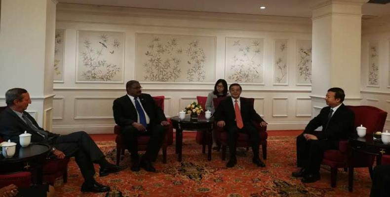 Visita China presidente de Tribunal Supremo Popular de Cuba. Foto: PL.