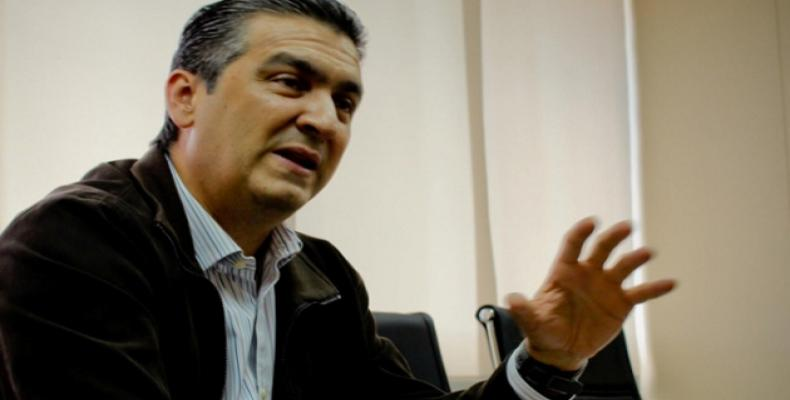 Ministro venezolano de Industria y Comercio Miguel Ángel Pérez Abad.