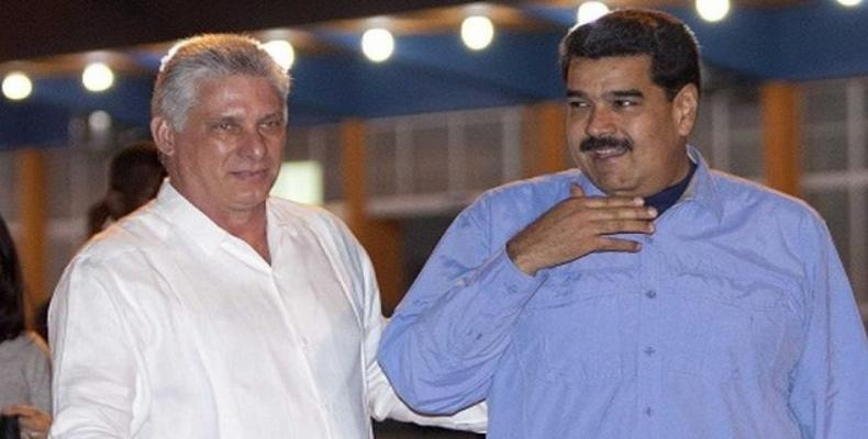 Cuban president expresses support for Venezuela's sovereignty