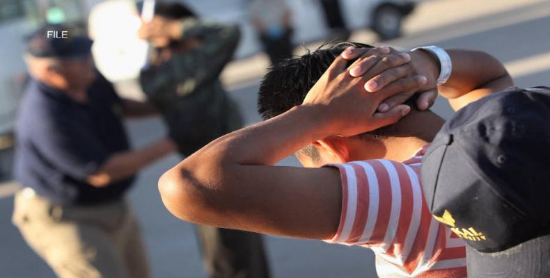 Immigrant children, arrested in U.S., could be held on military bases.  Photo: Democracy Now