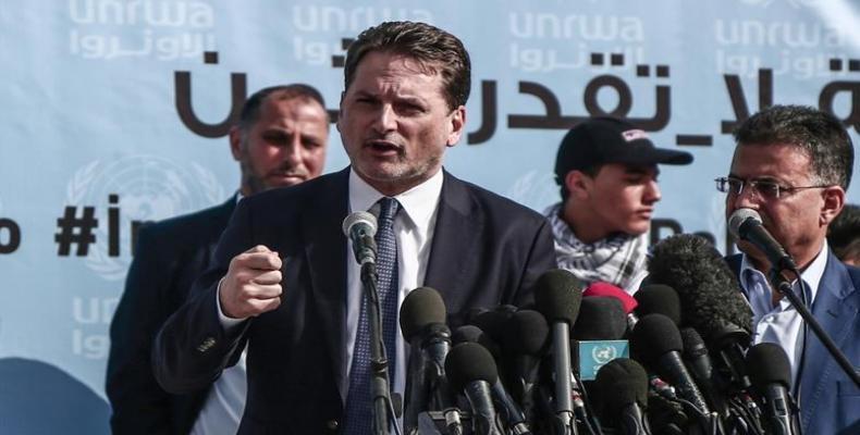 Pierre Krähenbühl, UNRWA's commissioner-general.