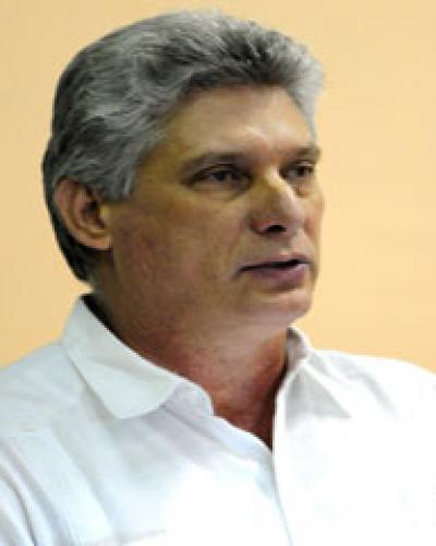 Primer Vicepresidente de los Consejos de Estado y de Ministros de Cuba, Miguel Díaz-Canel,
