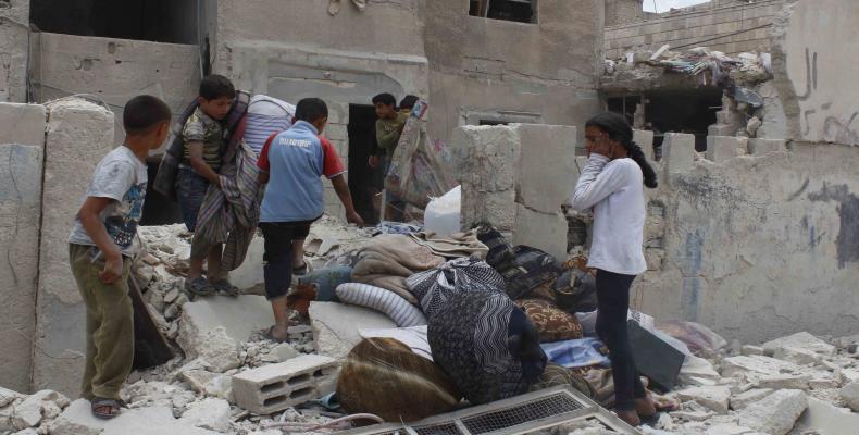 Destrucción de la ciudad siria de Alepo