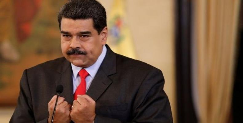 Venezuela's President Nicolas Maduro at a press conference in Caracas, February 15, 2018.  Photo: Reuters