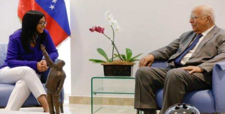 Venezuela y Cuba afinan hoy los mecanismos de cooperación bilateral e internacional. Foto: Tomada de Twitter