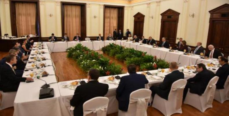 La reunión se realizó en la sede de la Misión de Cuba ante las Naciones Unidas. Fotos: Estudios Revolución