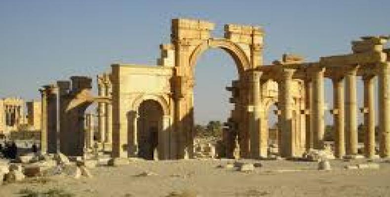 Devastada ciiudad de Palmira