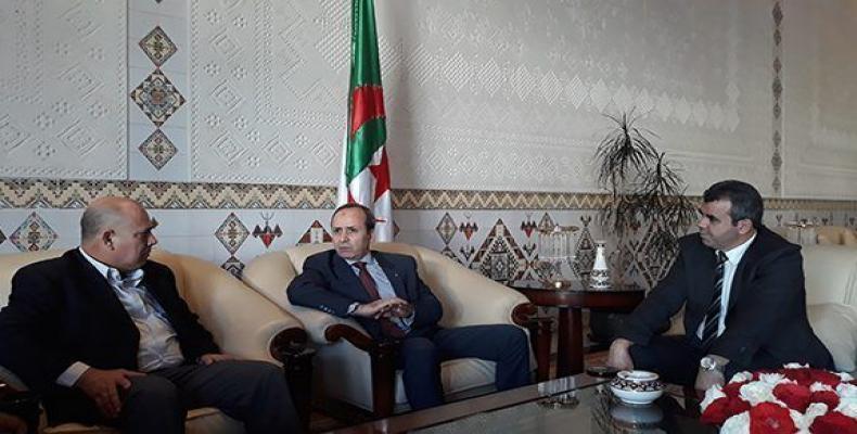 Morales Ojeda fue recibido por su homólogo argelino Mokhtar Hazbellaoui.Foto:Cubadebate.