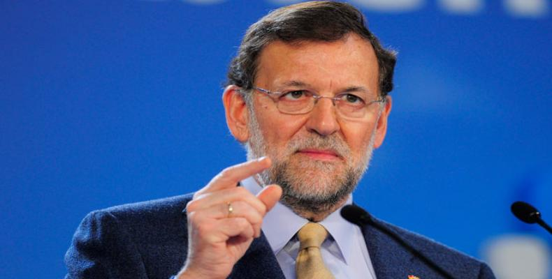 Spain's Acting Prime Minister Mariano Rajoy