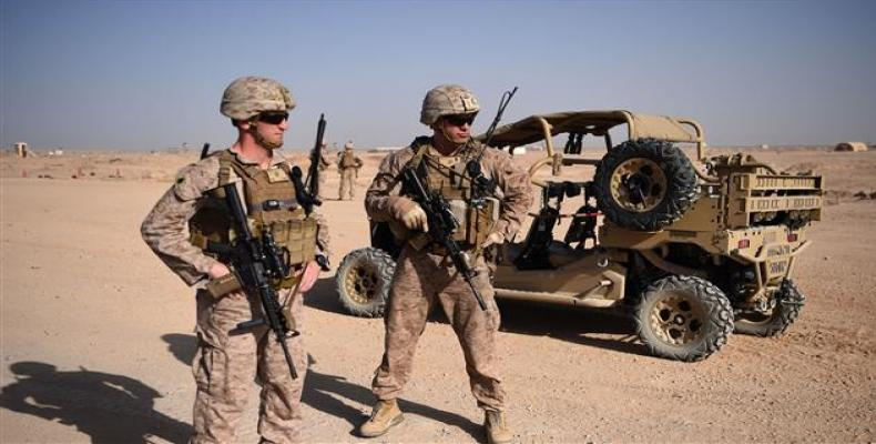 U.S. Marines at the Shorab military Camp in the southern Afghan province of Helmand (Photo by AFP)