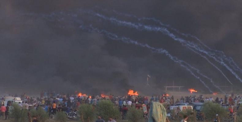 Gaza protests continue against Israeli occupation.  Photo: Reuters