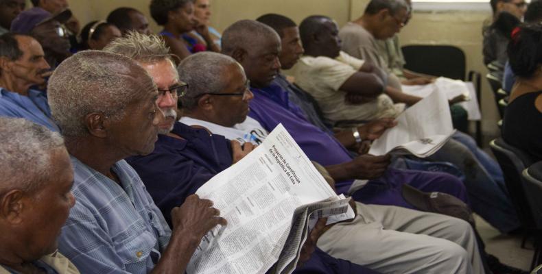 En la provincia de Camagüey también se protagonizan debates populares del Proyecto de la nueva Carta Magna. Foto: Archivo