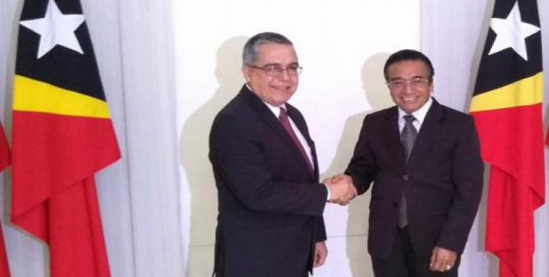 Prime Minister of East Timor receives Cuban deputy foreign minister. Photo: Cubaminrex