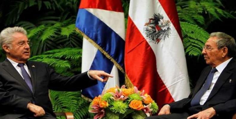 Presidentes de Cuba y Austria. (Foto/ Minrex)