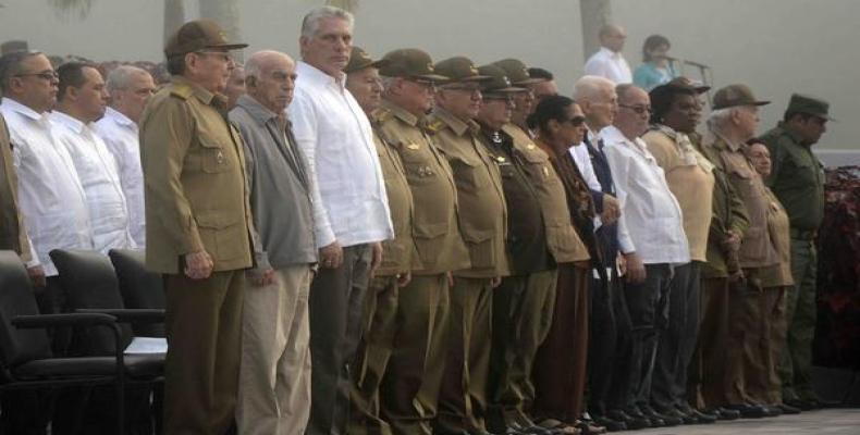 El acto aconteció en el mausoleo del II Frente Oriental Frank País, en la oriental provincia de Santiago de Cuba. Foto: Miguel Rubiera/ACN