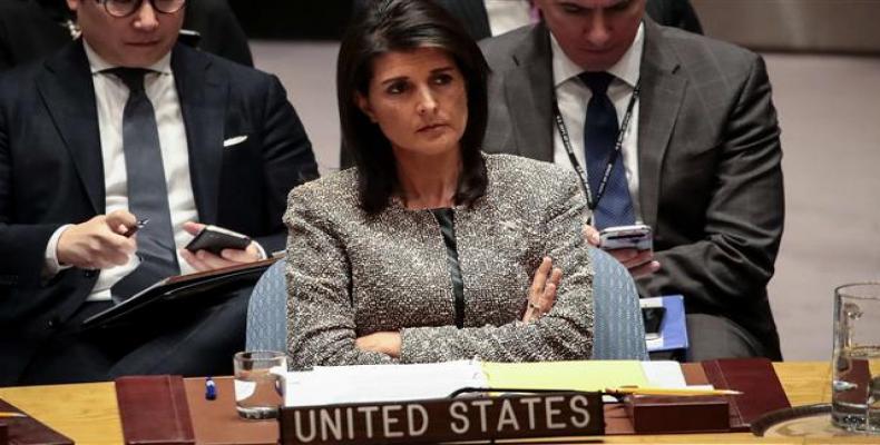 U.S. ambassador to the United Nations, Nikki Haley.  Photo: UN File