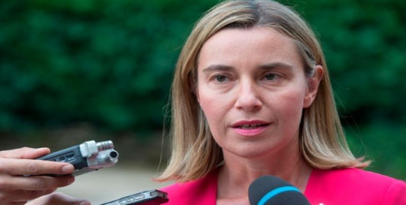 EU foreign policy and security chief Federica Mogherini.