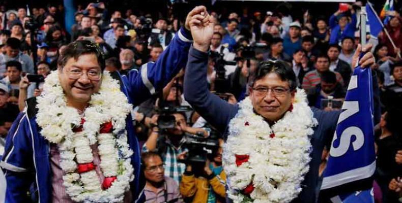 Luis Arce et David Choquehuanca, les candidats du MAS à la présidence et la vice-présidence de la Bolivie