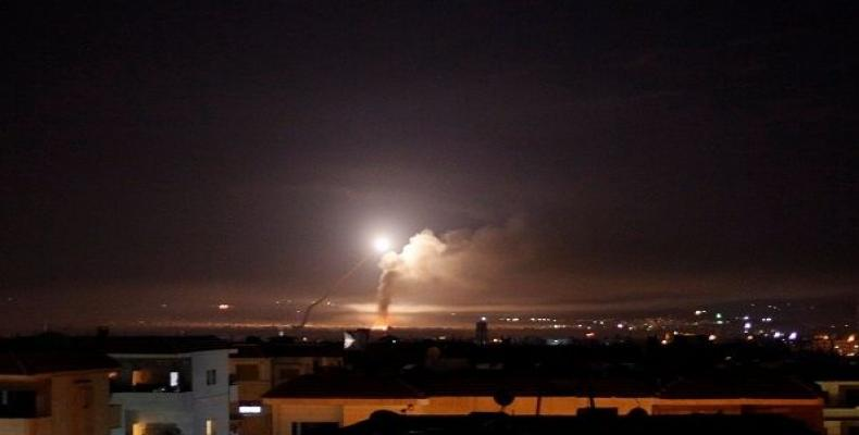 """The Syrian air defenses are confronting a new wave of Israeli aggression,"" state news agency SANA reported.  Photo: Reuters"