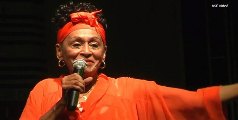 Omara Portuondo graba videoclip tributo a 500 años de La Habana.Foto.Internet.