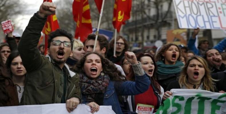Protestan contra reforma laboral del gobierno francés