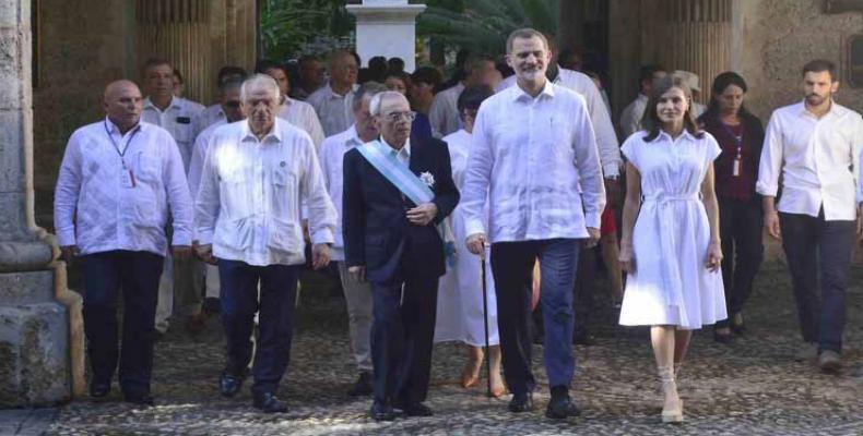 Esta visita coincide con los festejos por el aniversario 500 de la fundación de la otrora villa de San Cristóbal de La Habana. Foto: Yaciel Peña