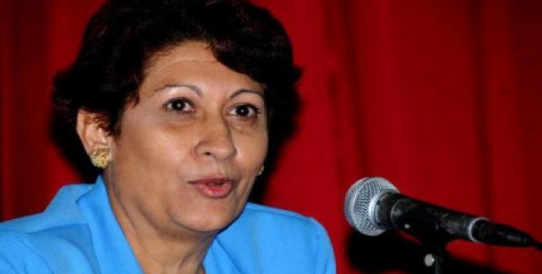 Cuban Minister of Education Ena Elsa Velázquez