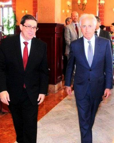 Cuban foreign minister meets with visiting chairman of U.S. Senate Foreign Relations Committee