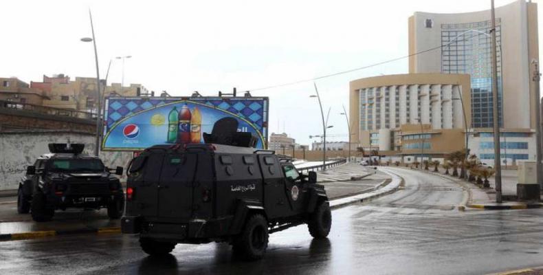 Fuerzas de seguridad en Trípolis. TRVE.es