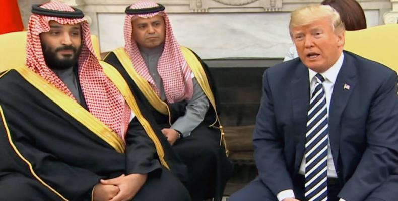 "Trump stands by ""great ally"" Saudi Arabia over journalist murder.  Photo: Press TV"