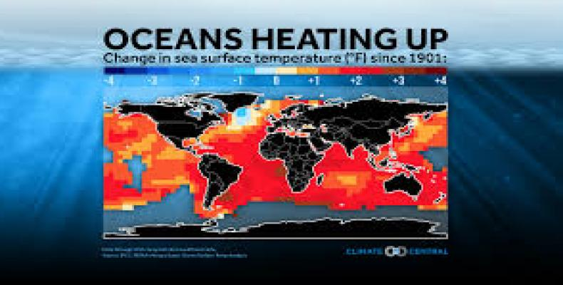 Report says oceans warming much faster than previously thought.  Photo: Google