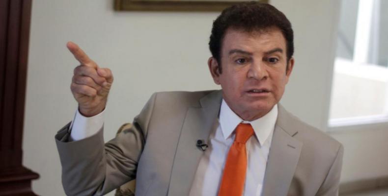 Salvador Nasralla, candidato de Alianza de Oposición contra la Dictadura