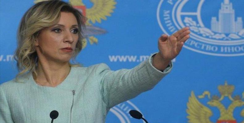 María Zajarova, vocera de la cancillería de Rusia