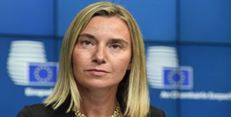 Representante de la Unión Europea para Asuntos Exteriores, Federica Mogherini