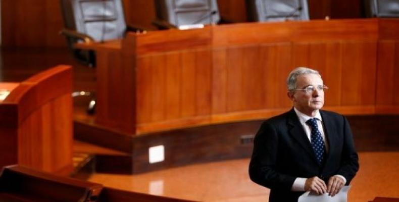 Former Colombian President Uribe.  (Photo: Twitter: @lcvelez)