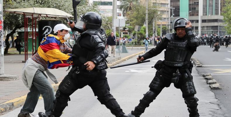 Protests against Ecuador's President Lenin Moreno's austerity measures.  (Photo: Reuters)